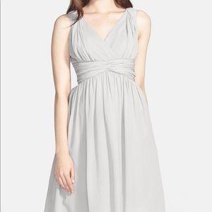 NWT Donna Morgan Jessie Twist Silk Chiffon Dress